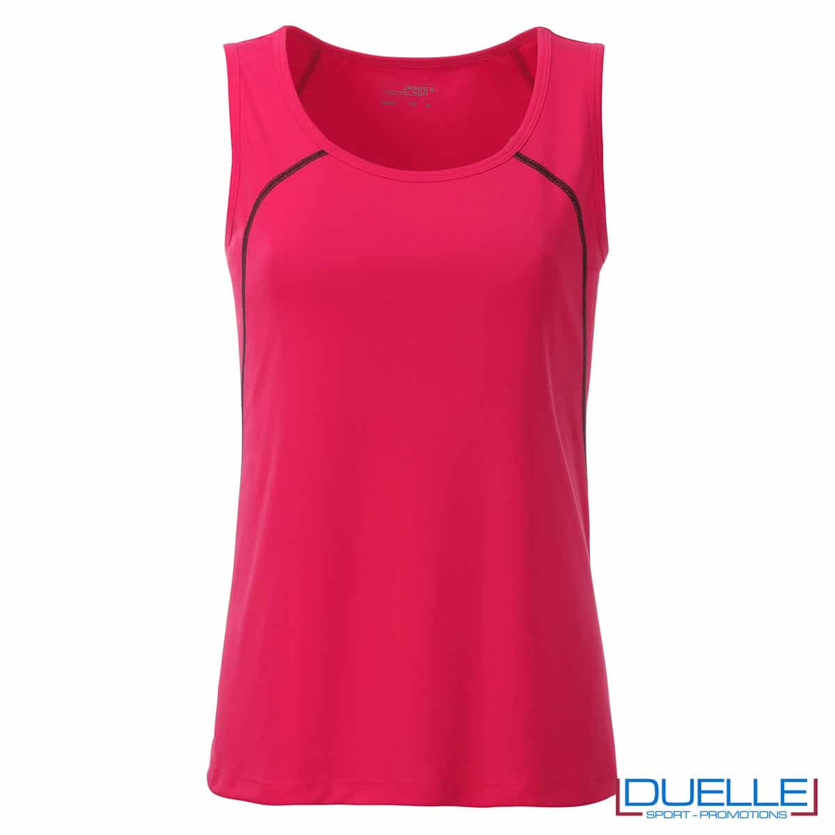 Canotta rosa fluo atletica femminile