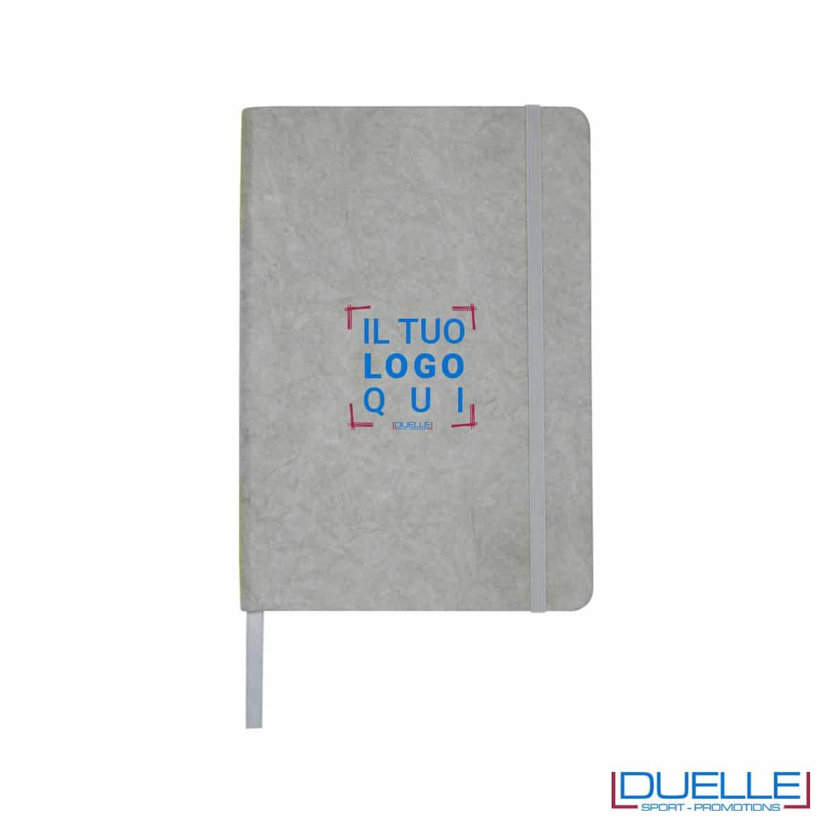 Blocco appunti in carta di pietra colore grigio personalizzato