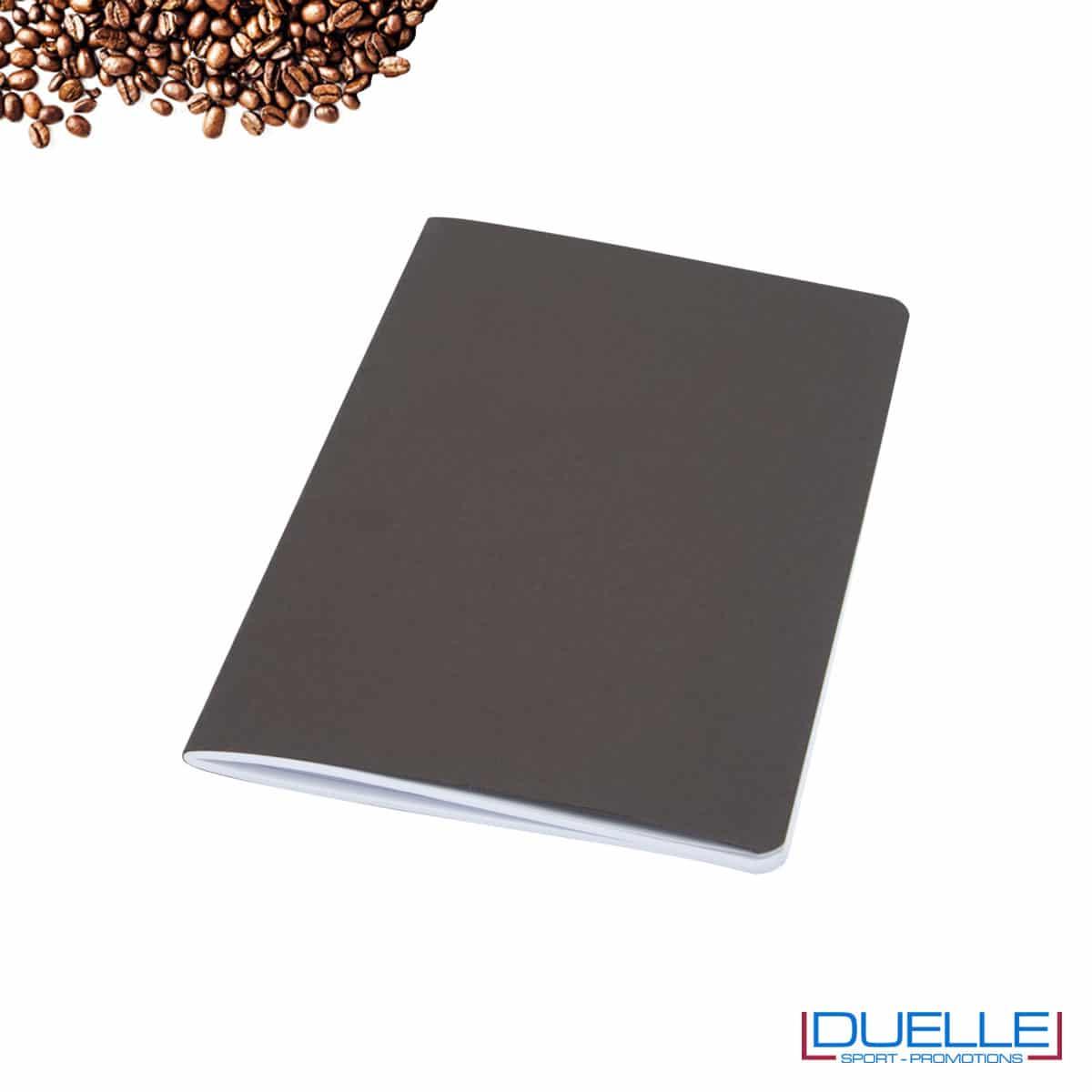 Quaderno carta riciclata con residui della lavorazione del caffè