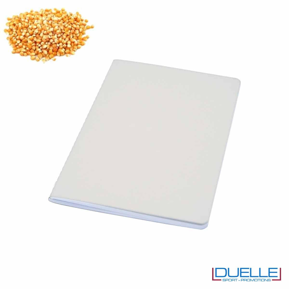 Quaderno carta riciclata con residui della lavorazione del mais