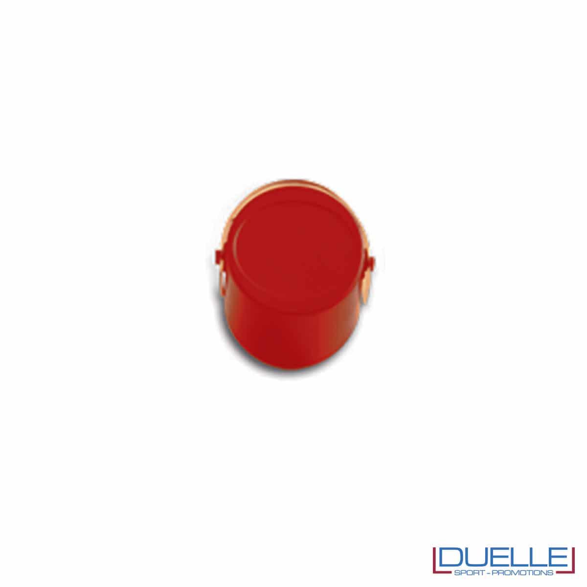 Tappi a pressione personalizzati colore rosso