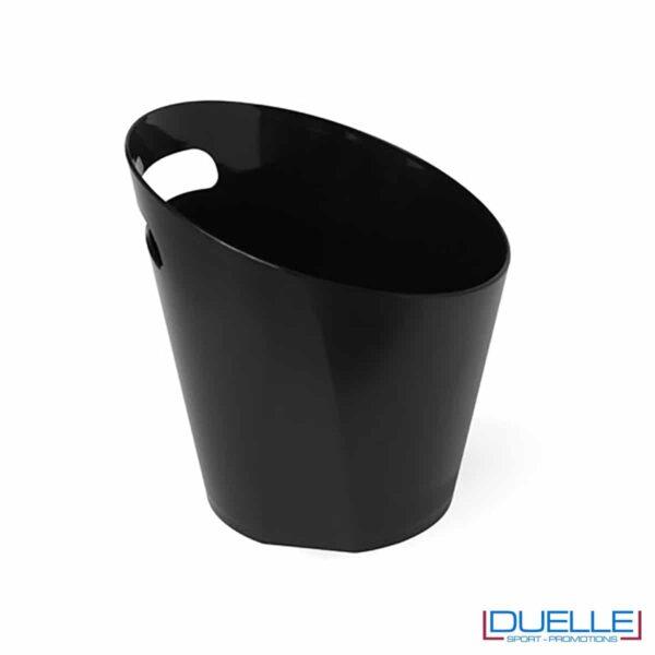 Secchiello portaghiaccio professionale in acrilico colore nero