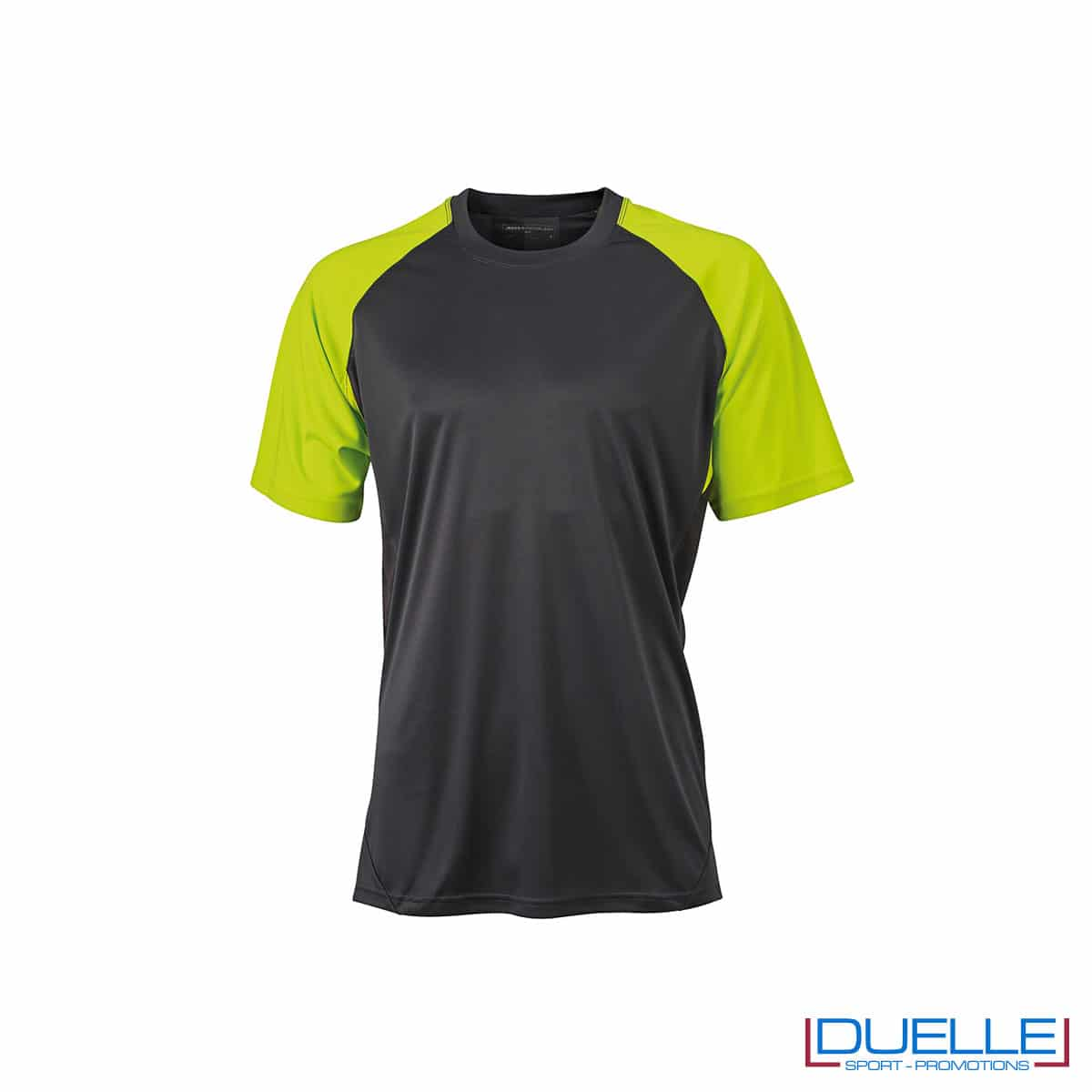 Maglietta calcio personalizzabile colore antracite-giallo