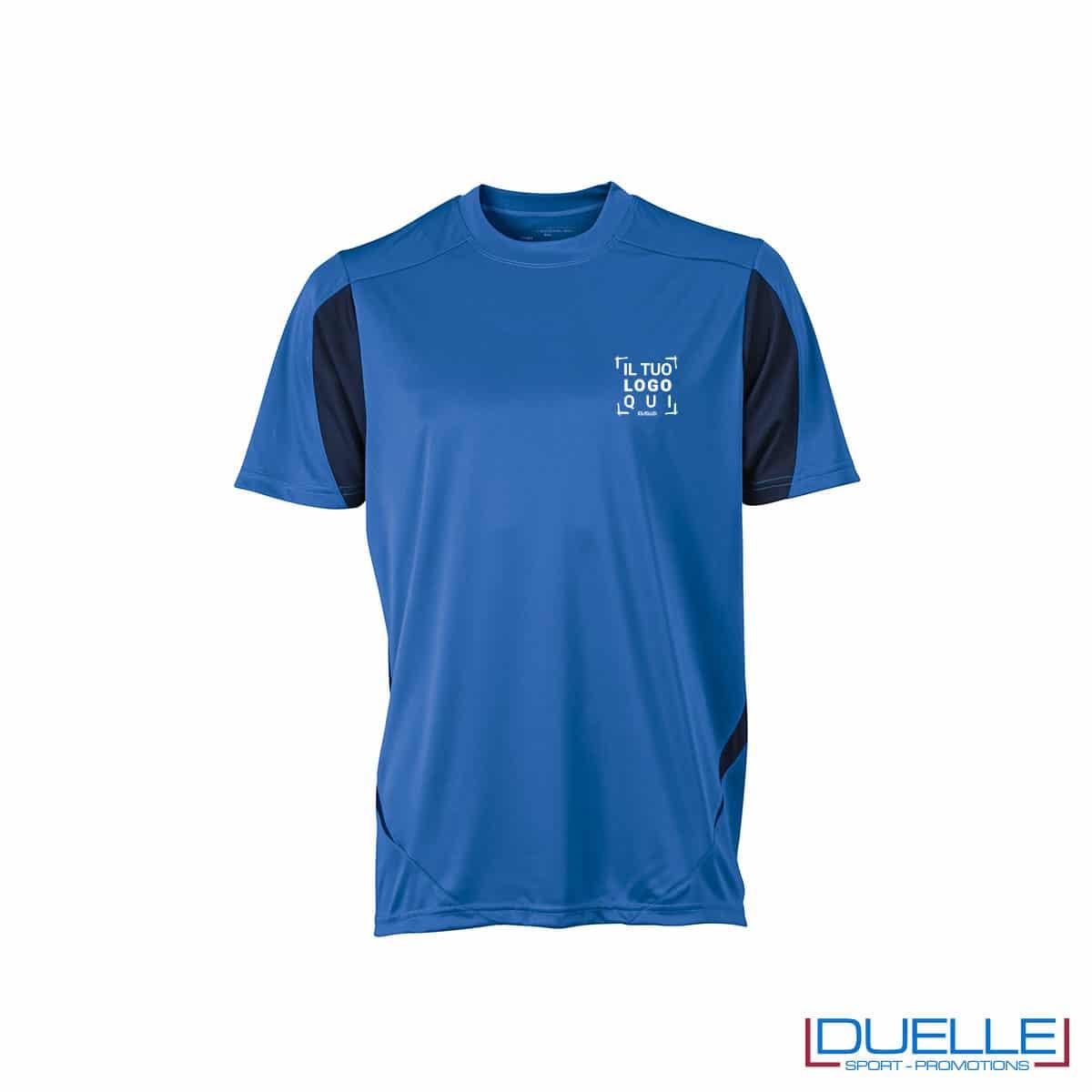 Maglia calcio colore azzurro-blu navy promozionale