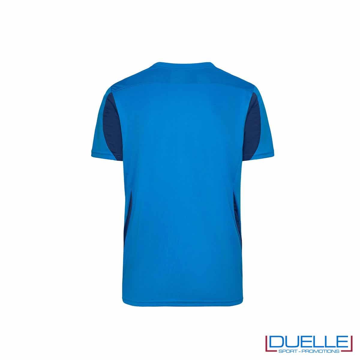 Retro maglia calcio colore azzurro-blu navy promozionale