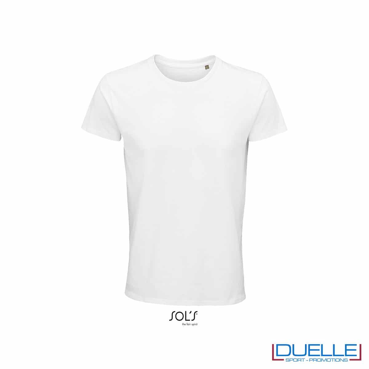 Maglietta ecosostenibile cotone biologico personalizzata colore bianco