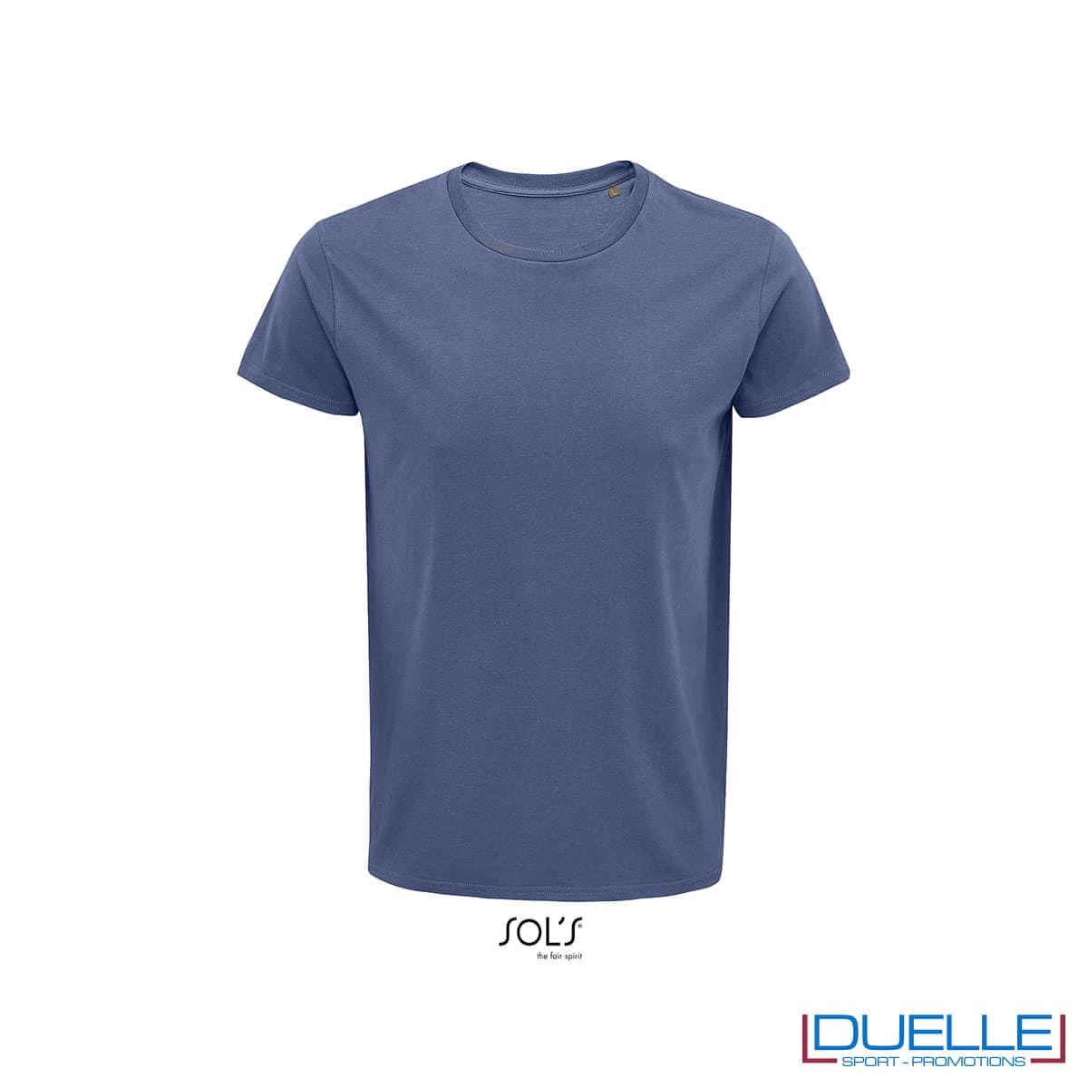 Maglietta ecosostenibile cotone biologico personalizzata colore denim