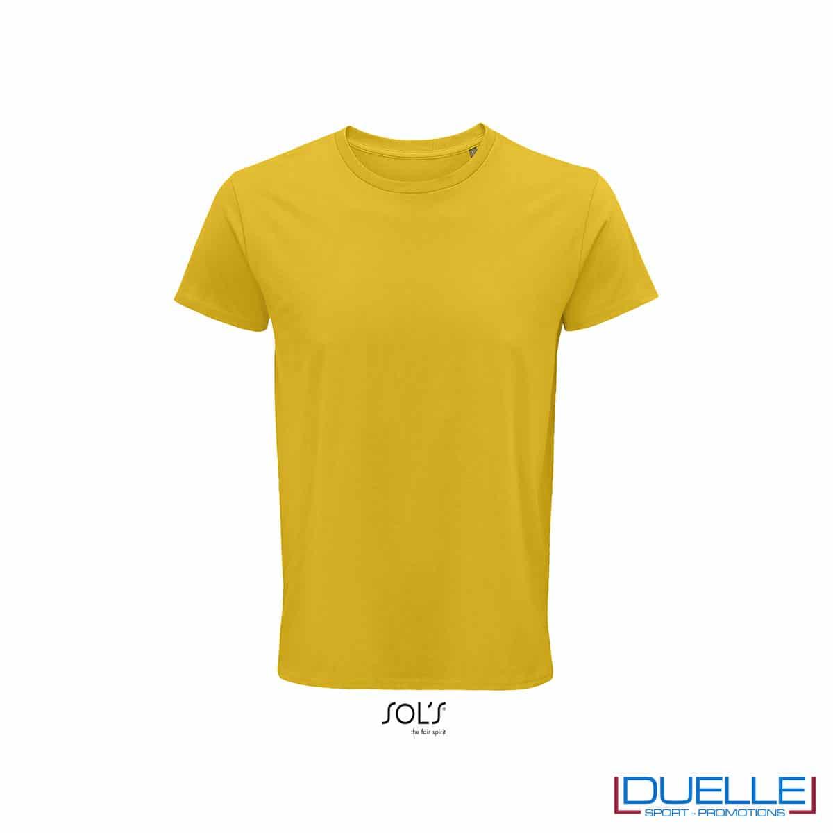 Maglietta ecosostenibile cotone biologico personalizzata colore giallo oro