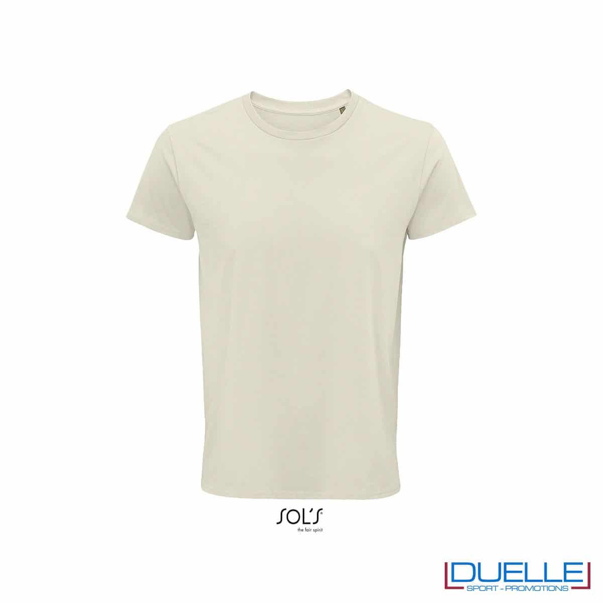 Maglietta ecosostenibile cotone biologico personalizzata colore naturale