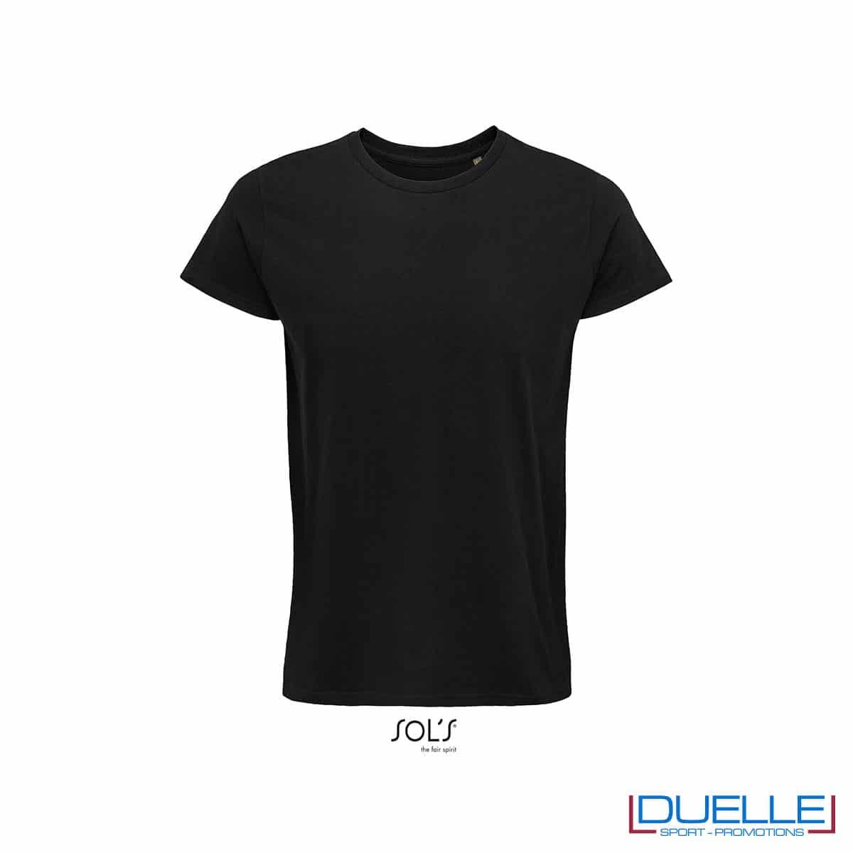 Maglietta ecosostenibile cotone biologico personalizzata colore nero