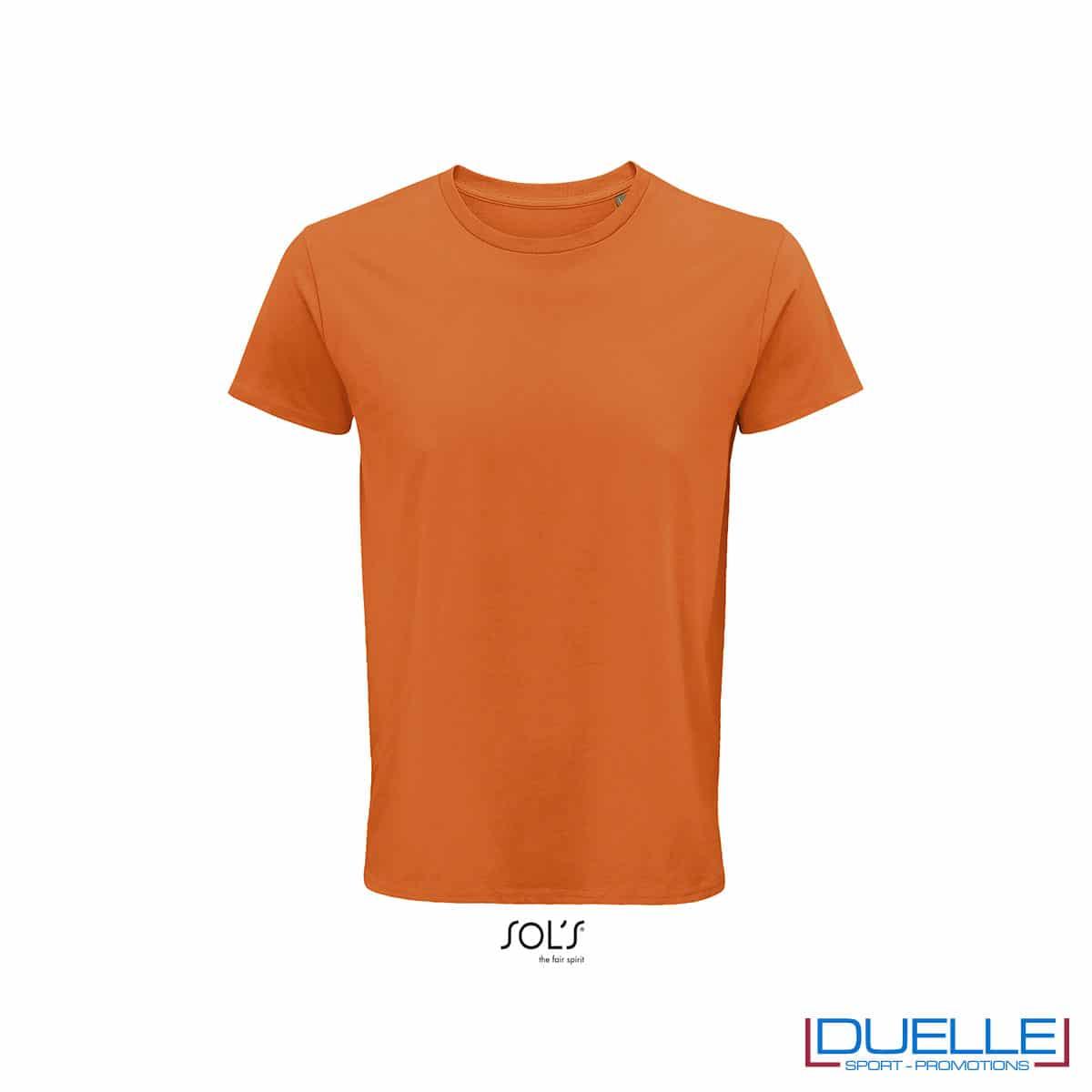 Maglietta ecosostenibile cotone biologico personalizzata colore arancione