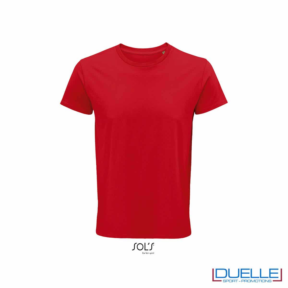 Maglietta ecosostenibile cotone biologico personalizzata colore rosso