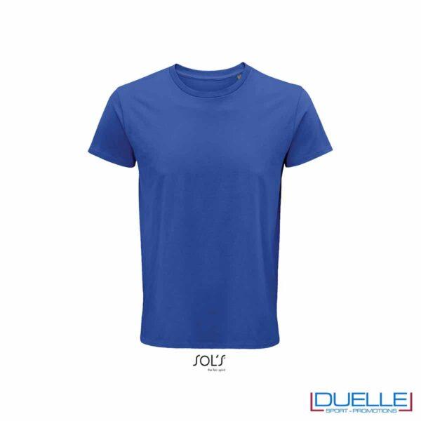 Maglietta ecosostenibile cotone biologico personalizzata colore blu royal
