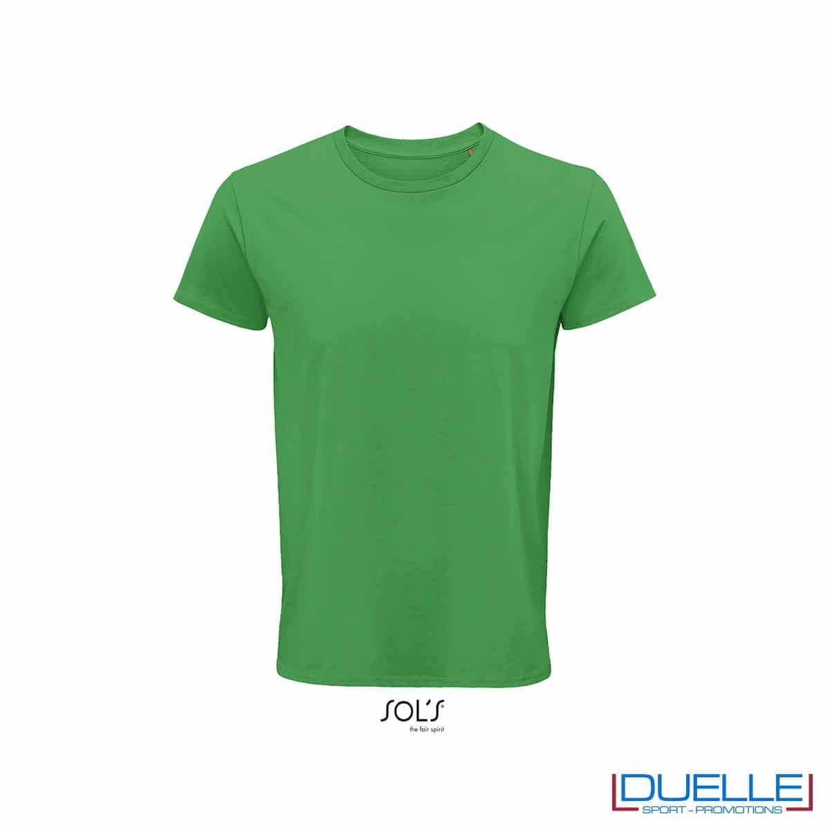Maglietta ecosostenibile cotone biologico personalizzata colore verde prato