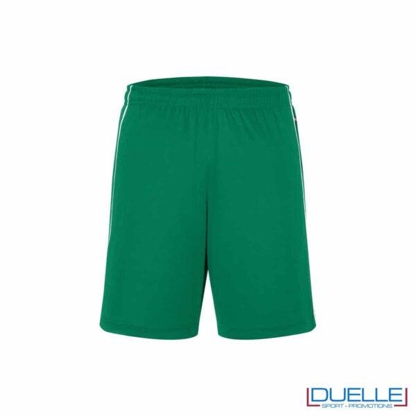 Pantaloncino calcio colore verde promozionale