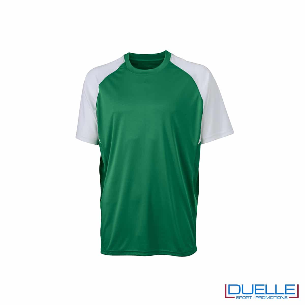 Maglietta calcio personalizzabile colore verde-bianco