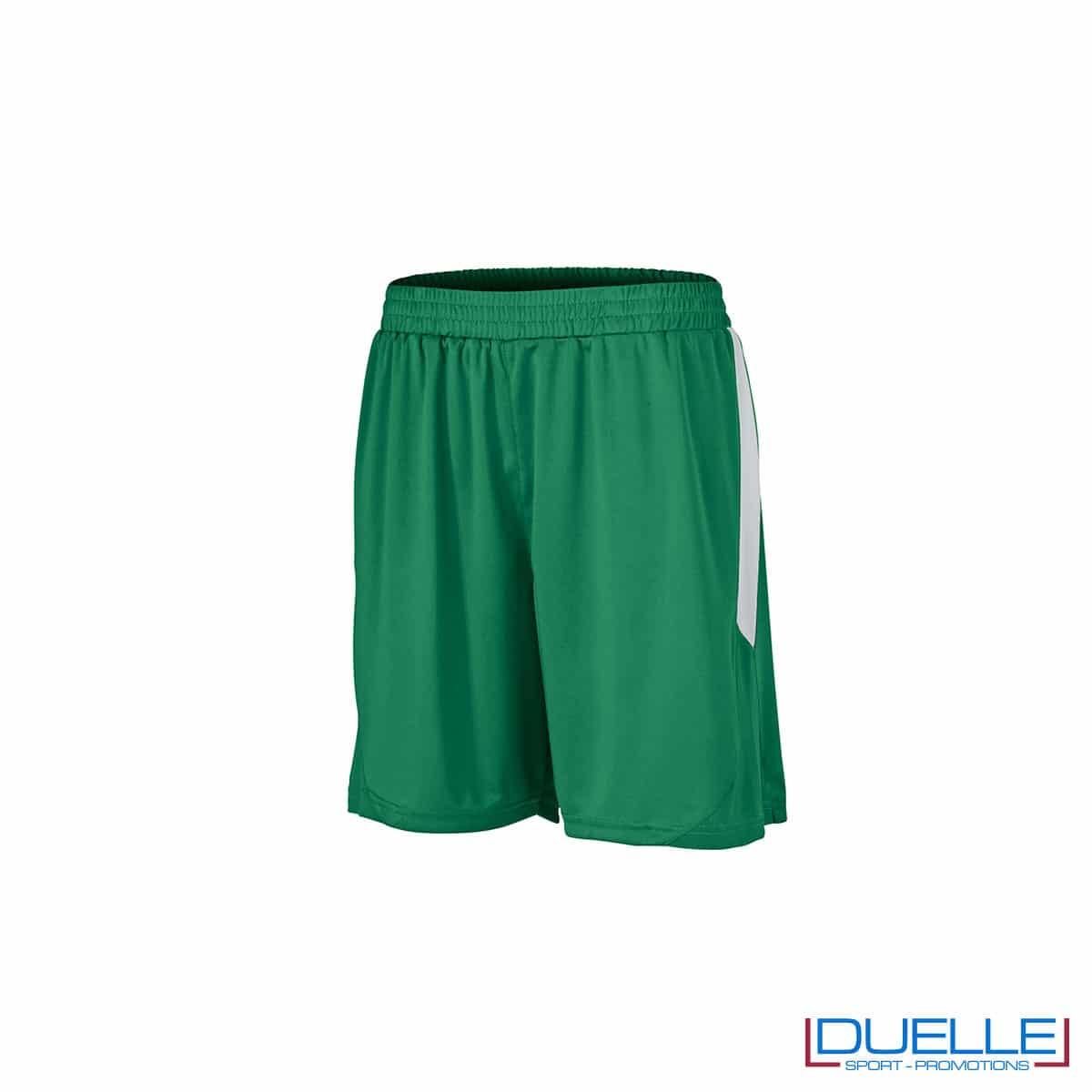 Pantaloncini calcio colore verde-bianco personalizzati