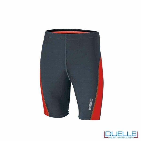 Pantaloncini running personalizzati colore antracite/arancione