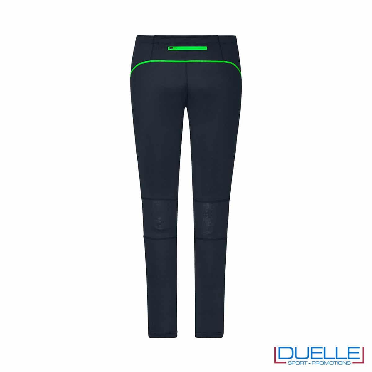 Retro pantaloni corsa donna antracite/verde personalizzati