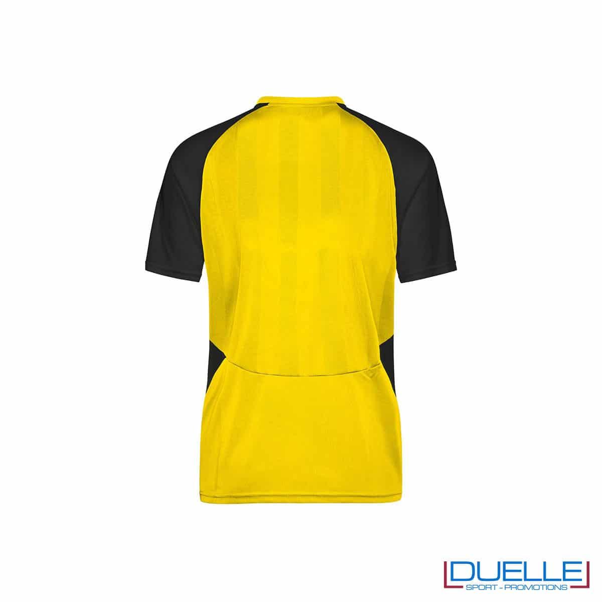 Retro maglietta calcio personalizzabile colore giallo-nero