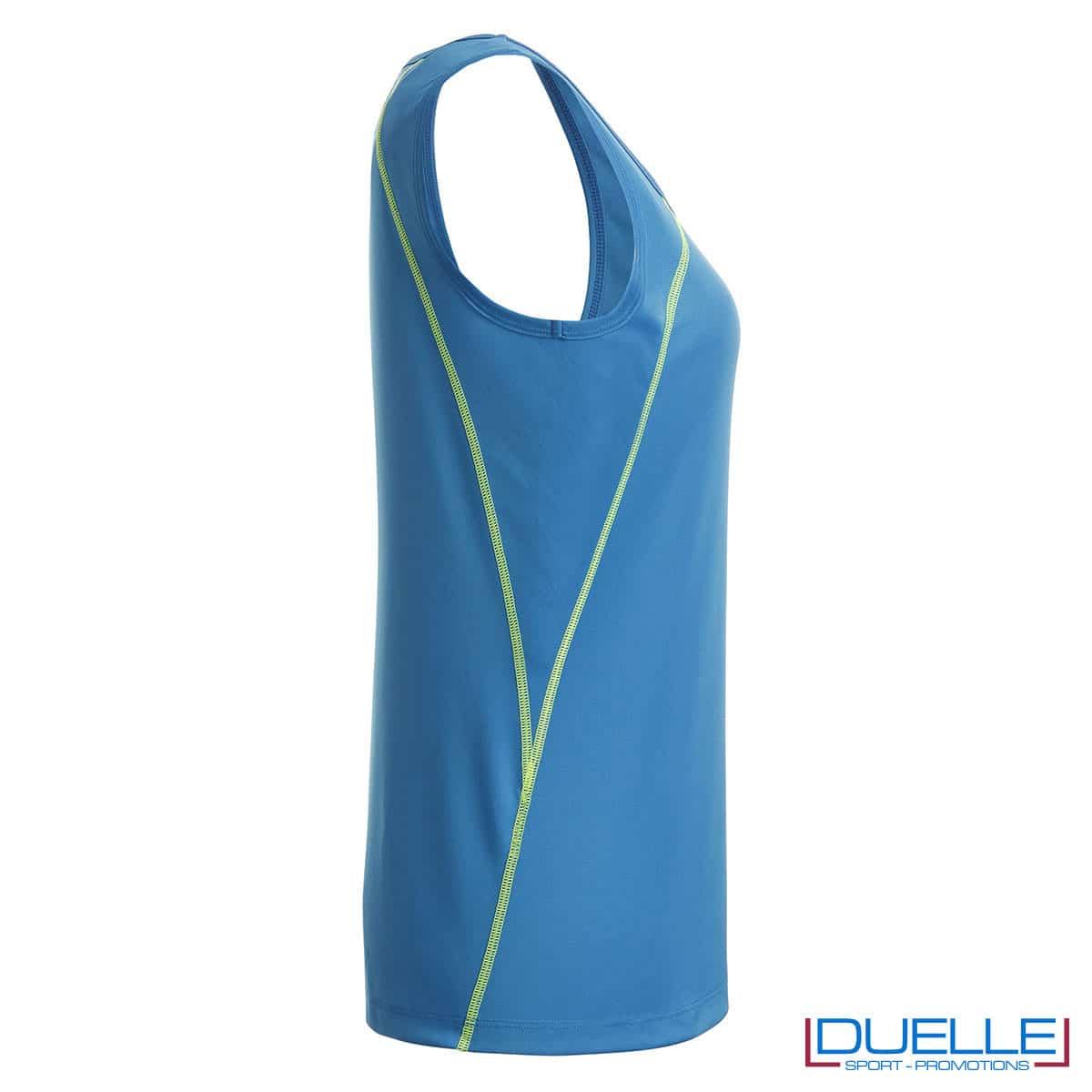 Lato canottiera azzurro atletica femminile