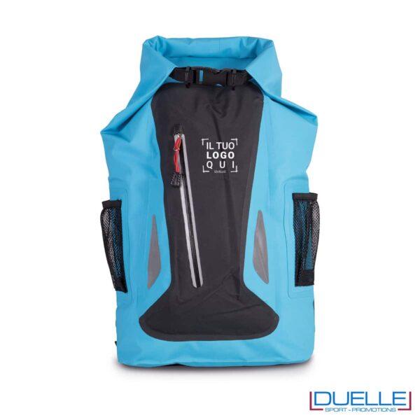 Zaino impermeabile 23 lt, per sport acquatici colore blu