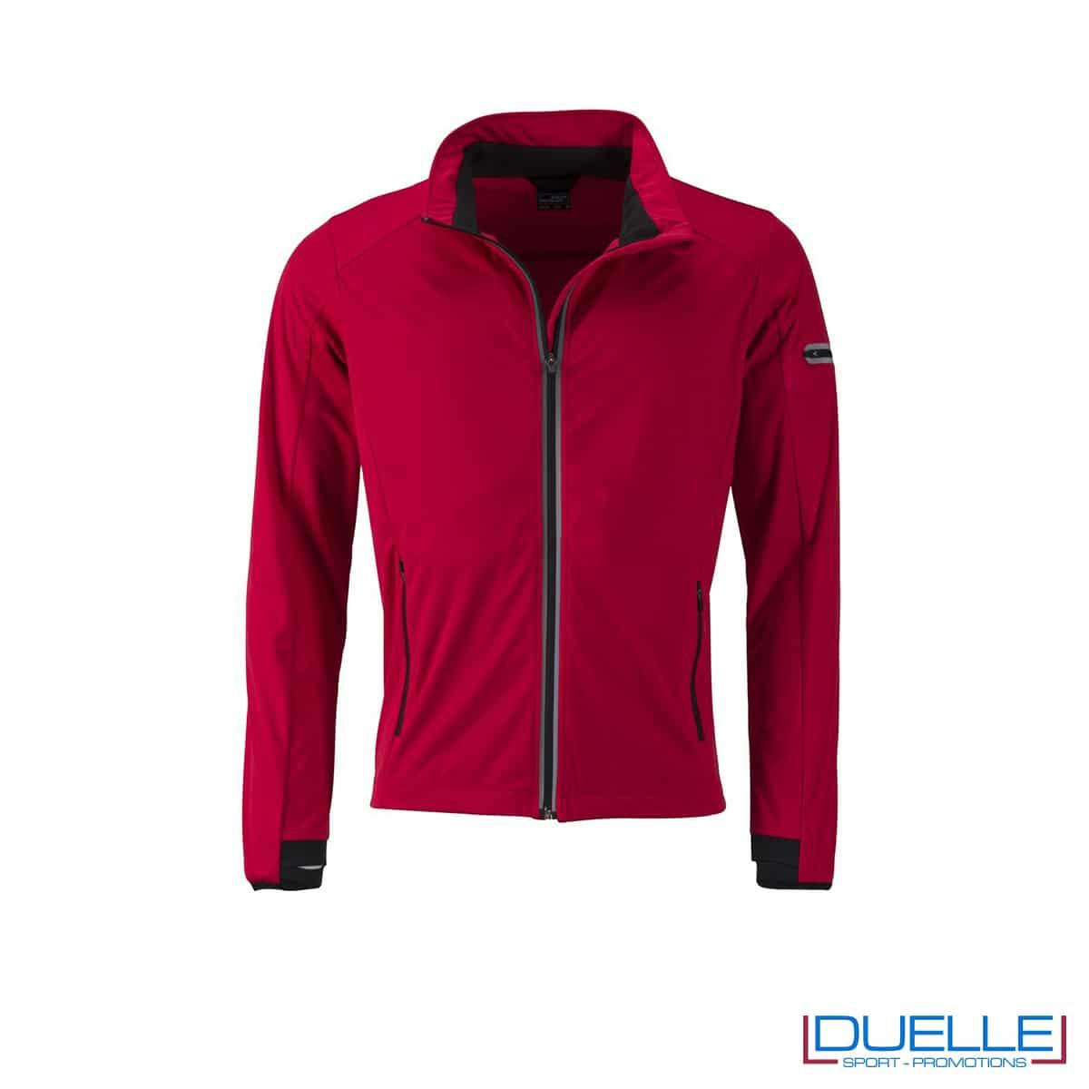 Giacca softshell traspirante colore rosso promozionale