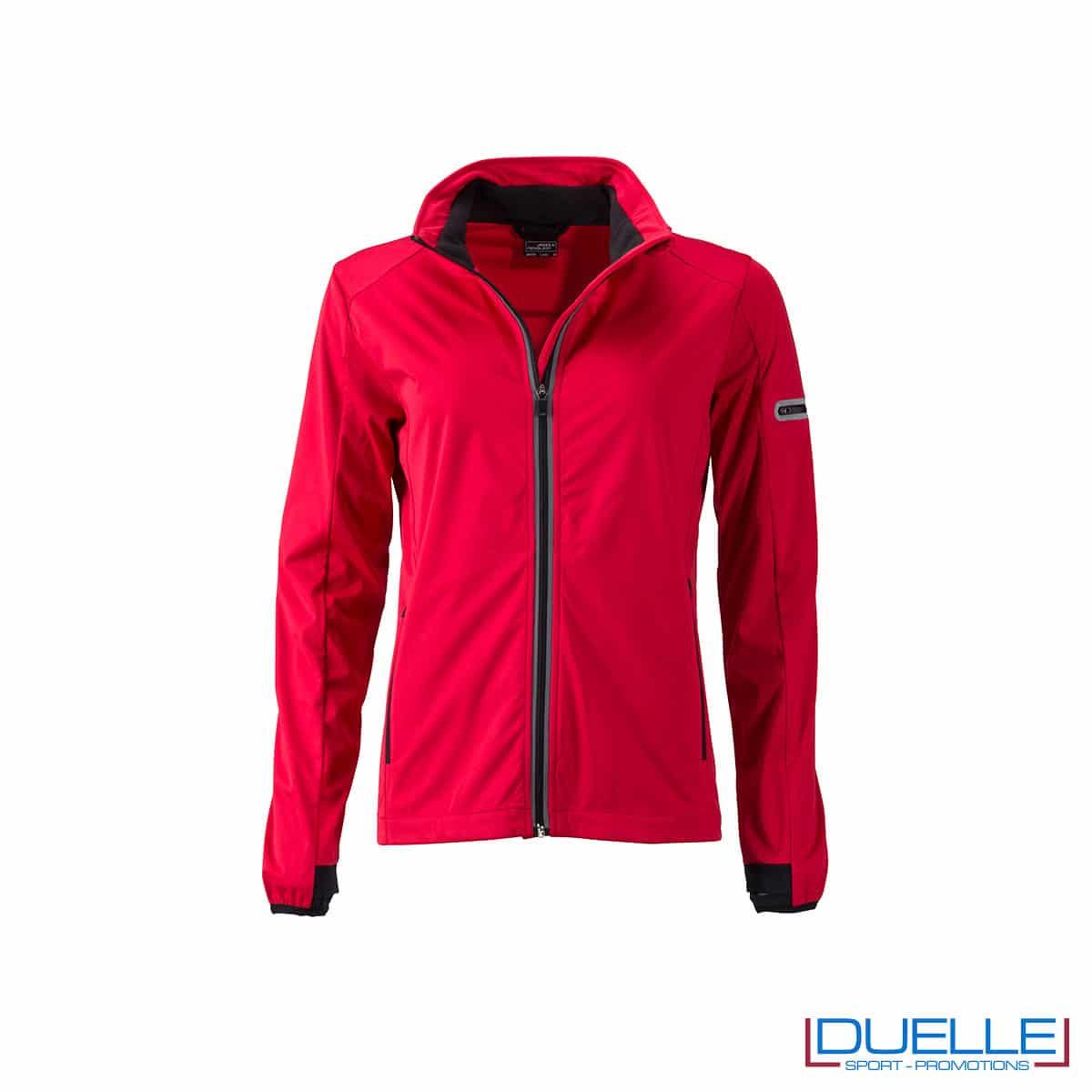 Giacca softshell donna traspirante colore rosso promozionale