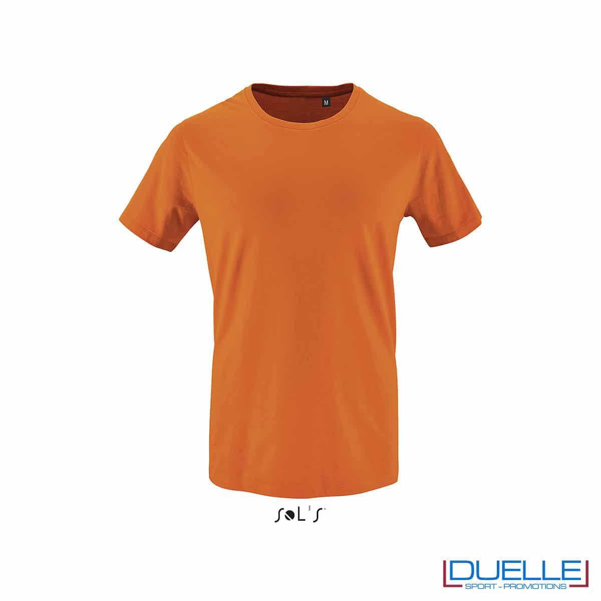 T-shirt 100% cotone biologico colore arancione personalizzata con il tuo logo