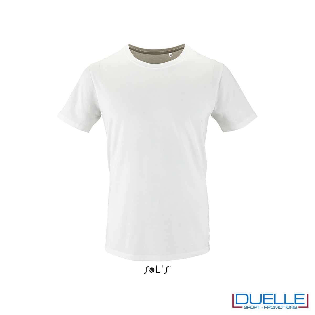 T-shirt 100% cotone biologico colore bianco personalizzata con il tuo logo