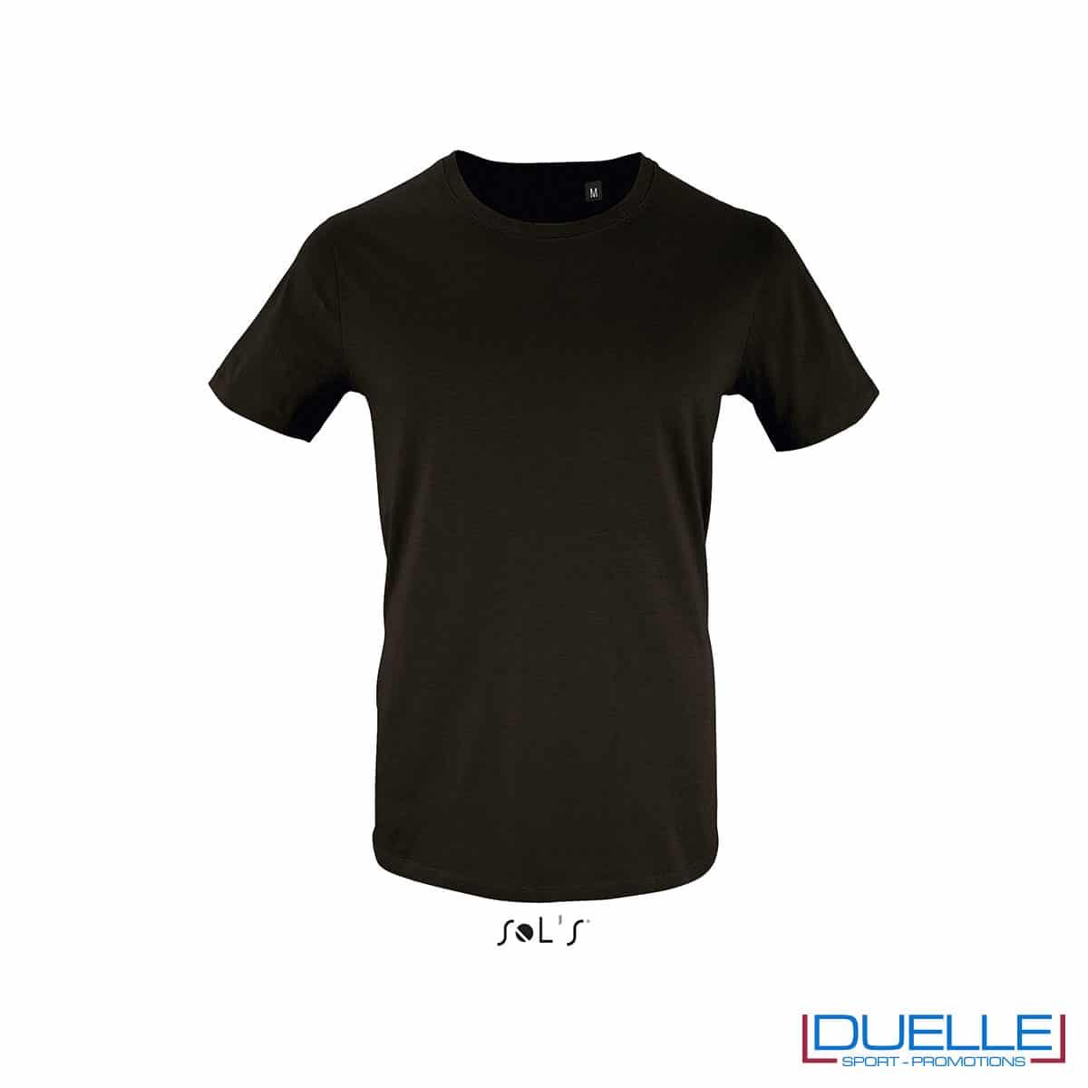 T-shirt 100% cotone biologico colore nero personalizzata con il tuo logo
