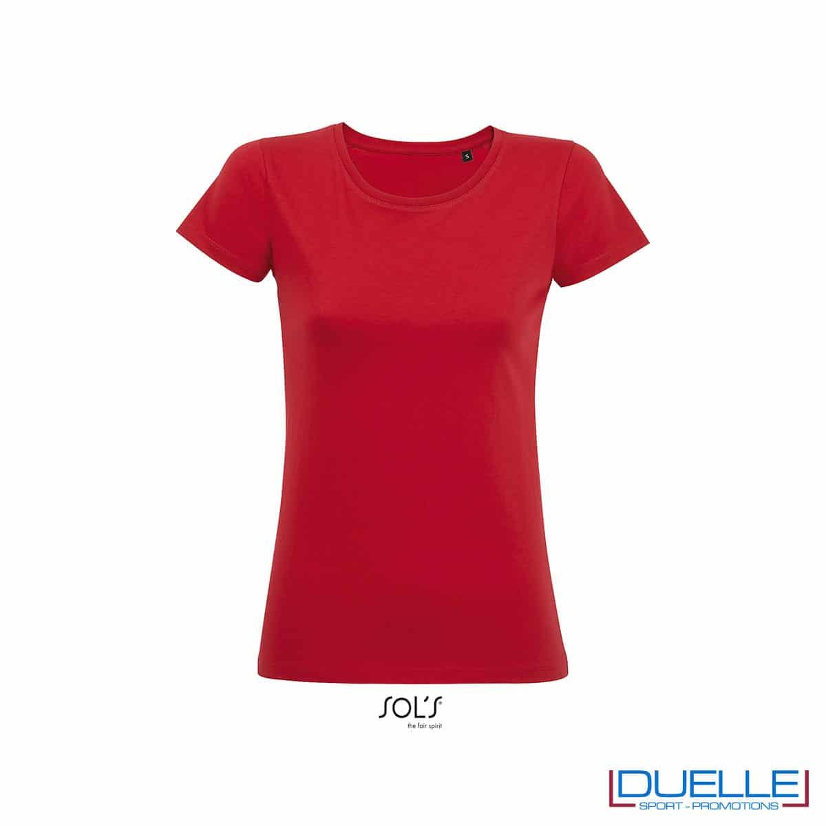 maglietta rossa femminile jersey cotone