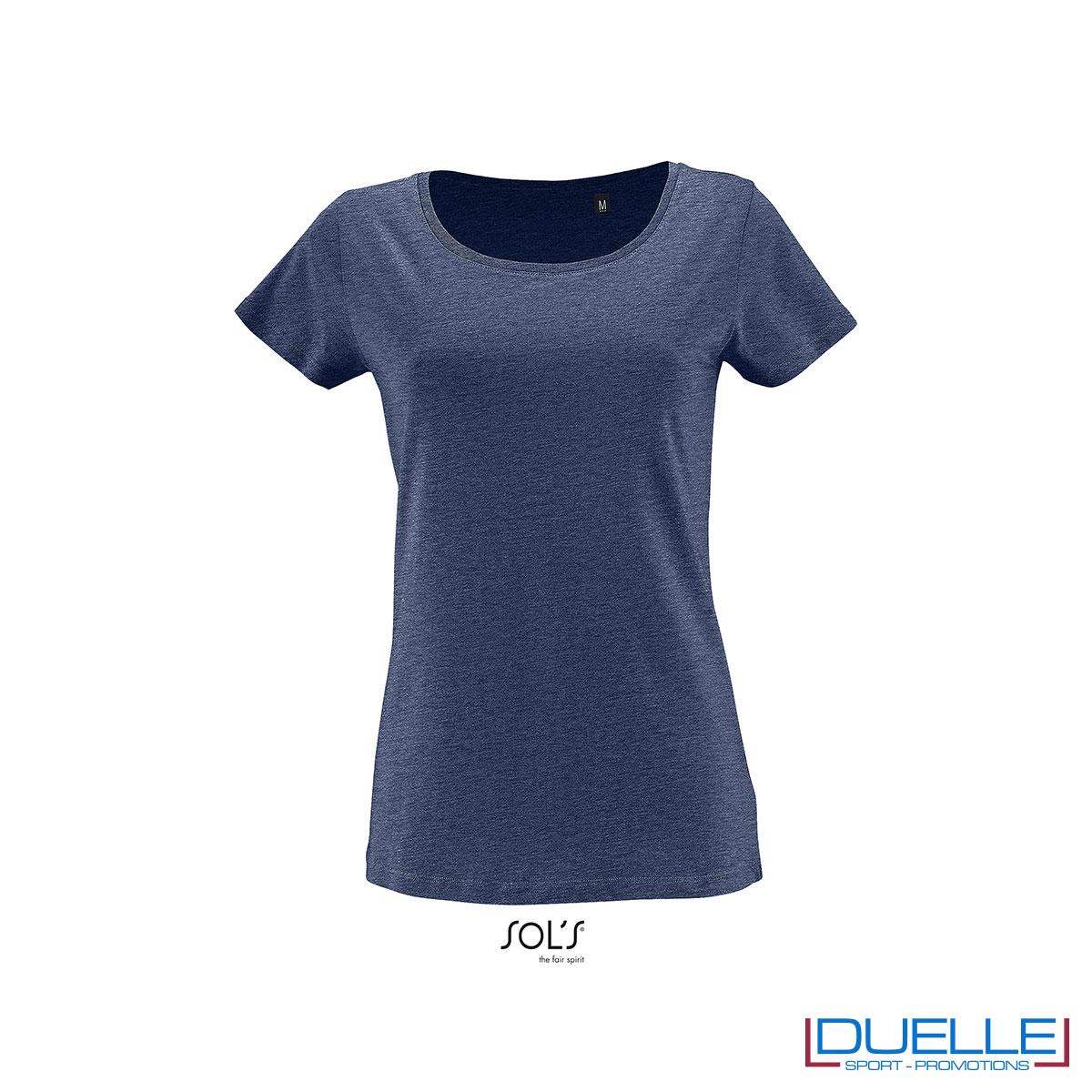 maglietta denim donna 100% cotone jersey