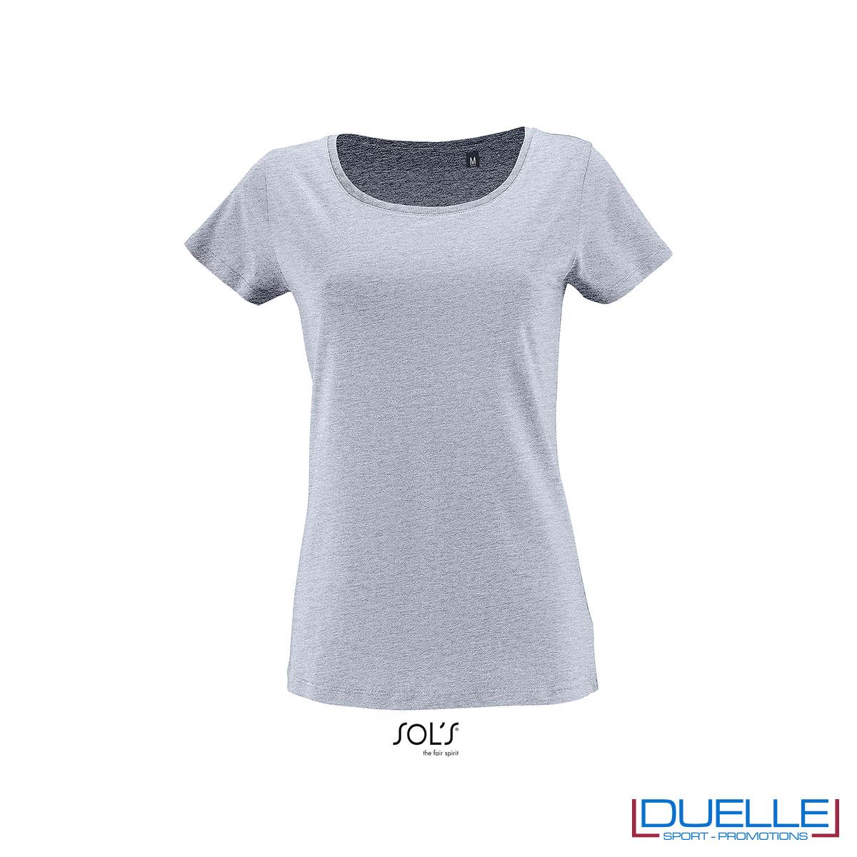 maglia donna celeste 100% cotone