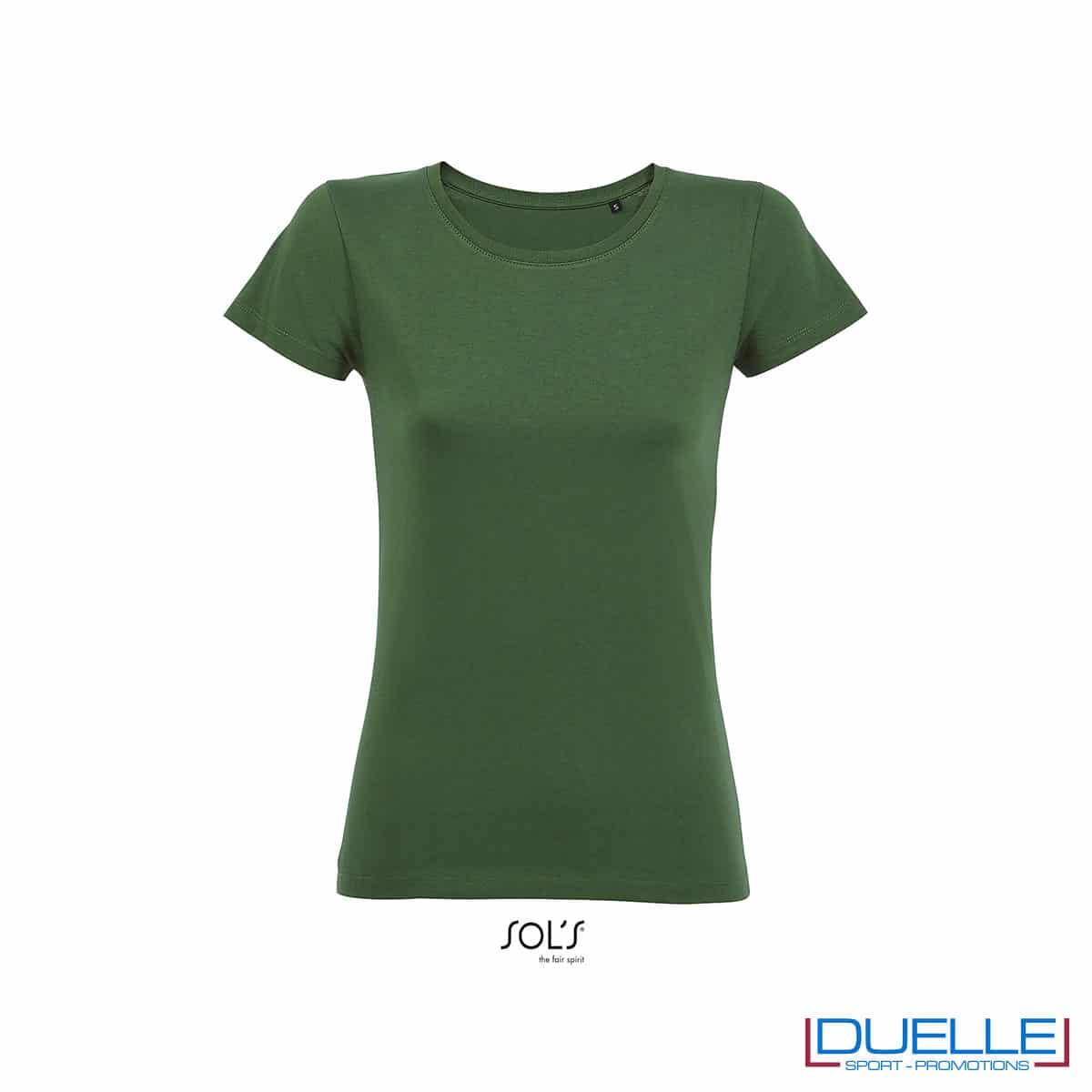 maglietta verde donna 100% cotone