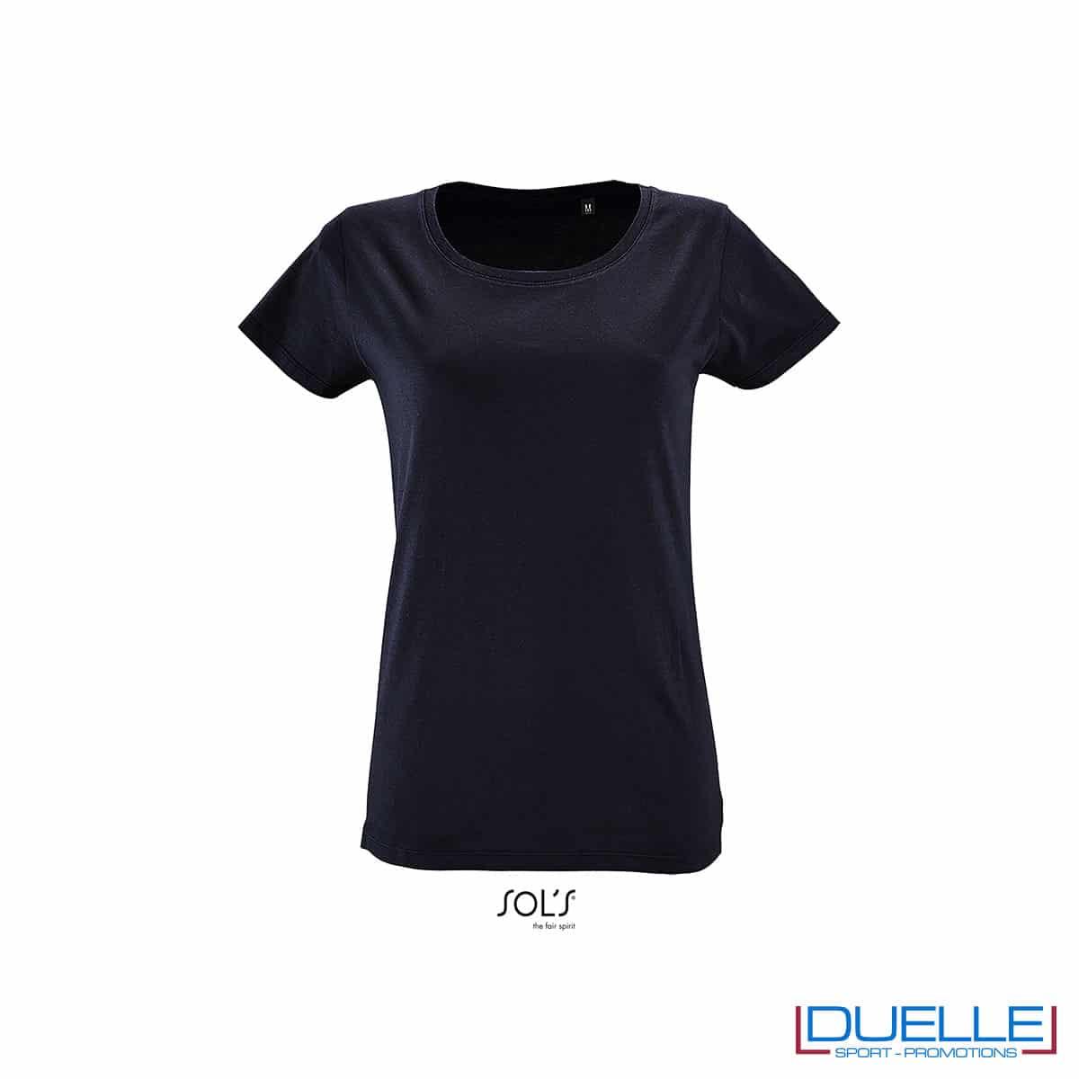 maglietta blu scuro donna cotone