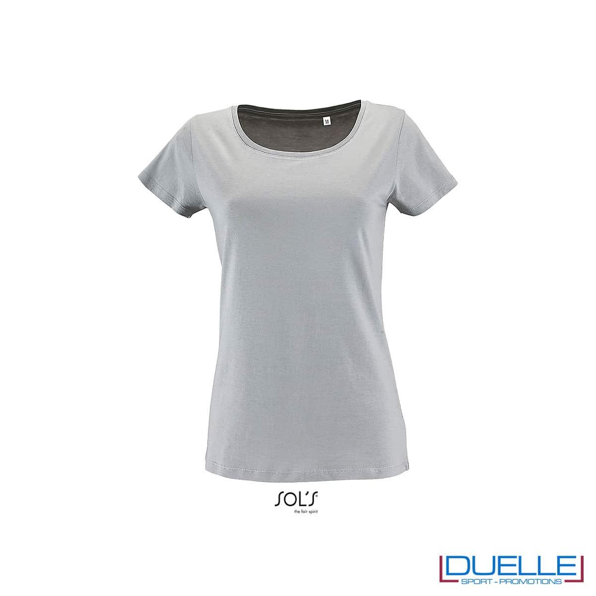 t-shirt donna grigio jersey