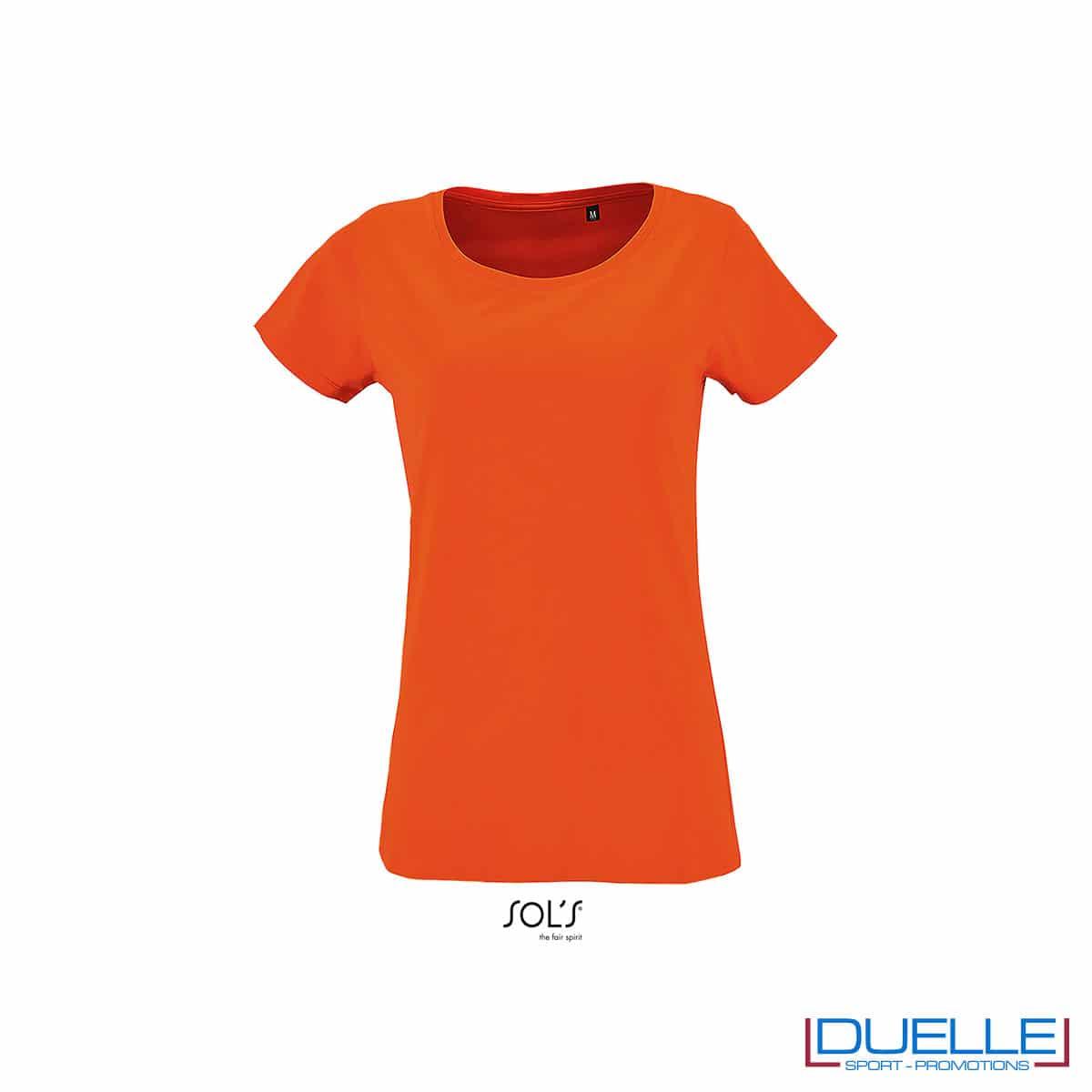 maglietta arancione donna jersey
