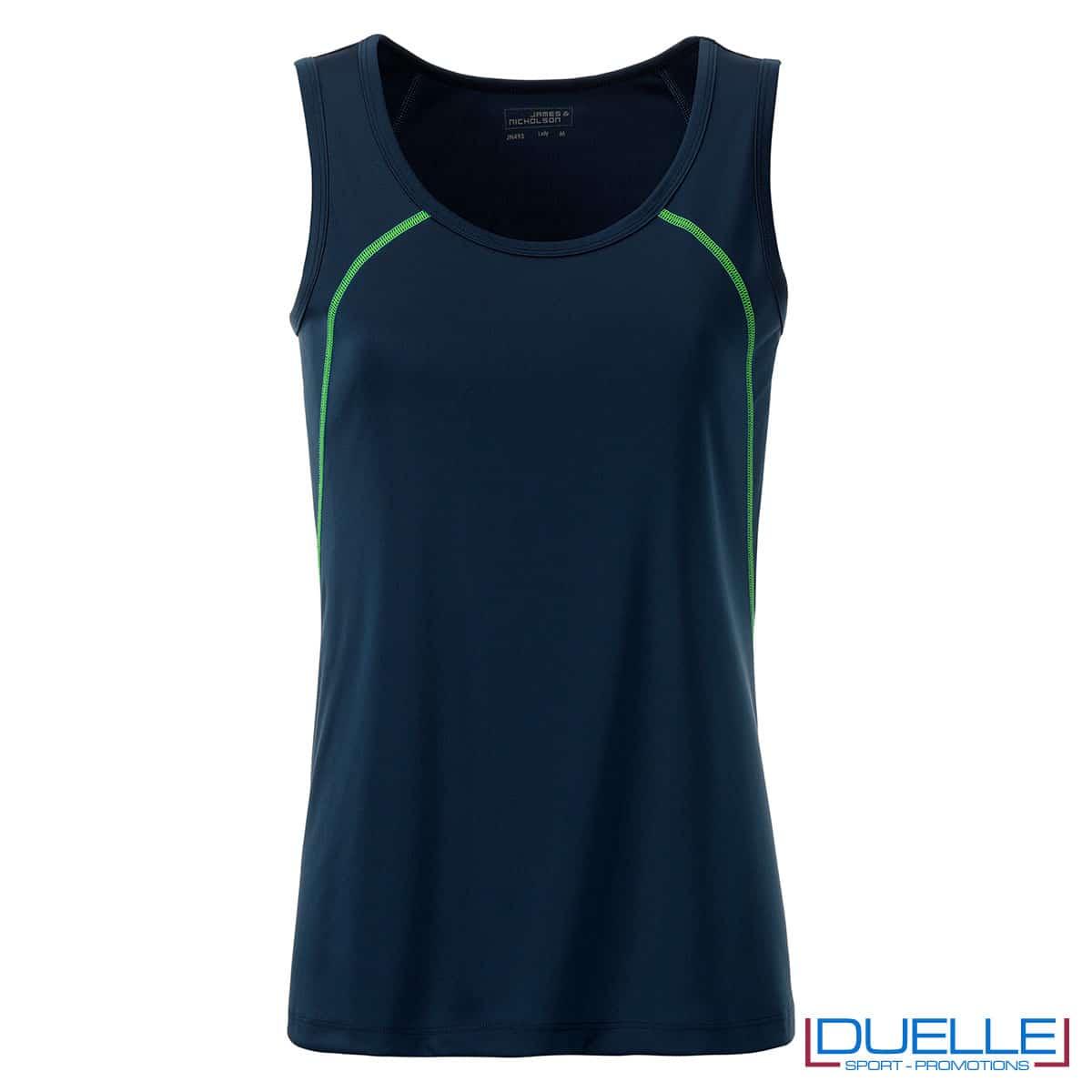Canottiera blu navy sportiva per donna