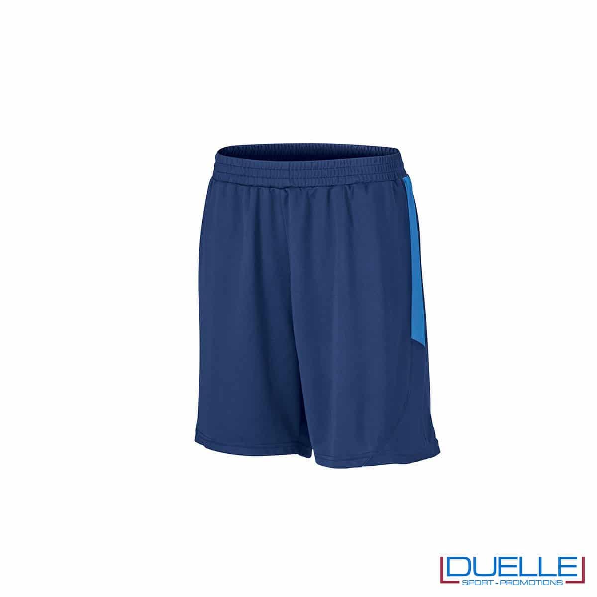 Pantaloncini calcio colore blu navy-azzurro personalizzati