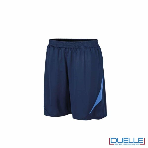 Pantaloncini da calcio colore blu navy-azzurro personalizzati