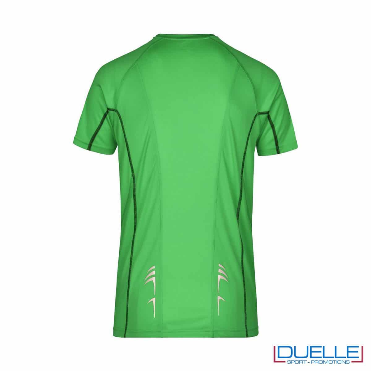 Retro maglia running Coolmax uomo colore verde personalizzata