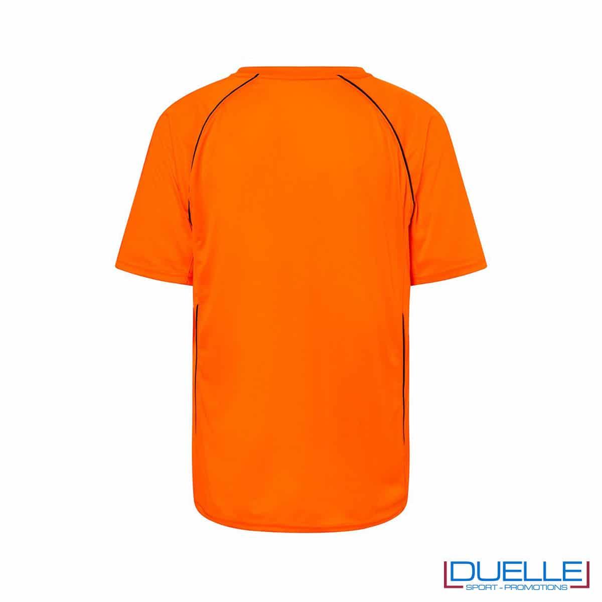 Retro t-shirt calcio colore arancione personalizzabile