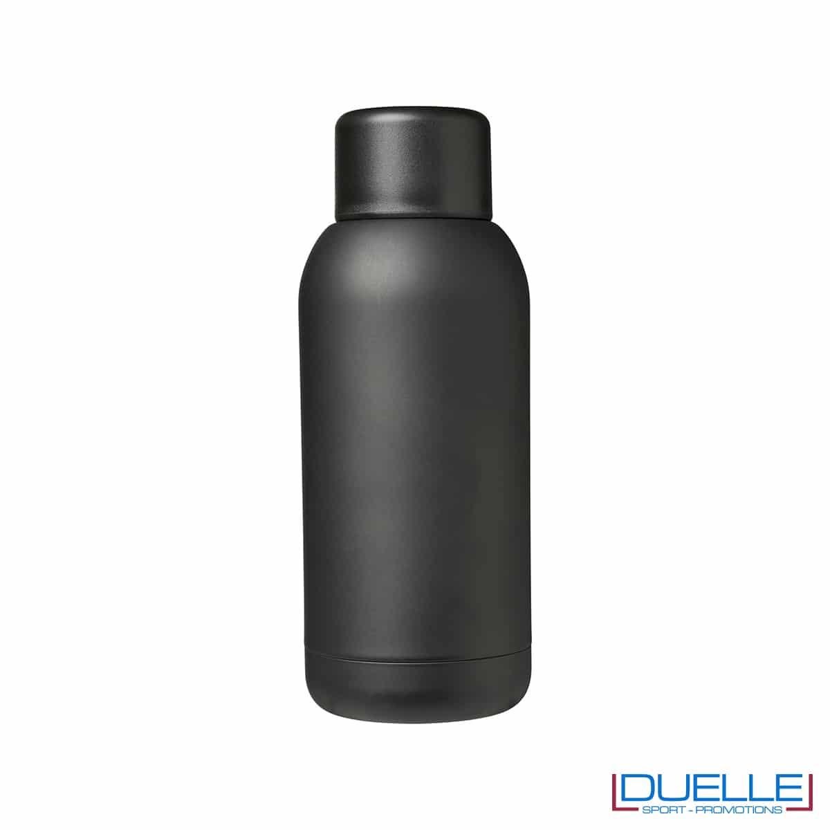 Borraccia termica sport 375ml colore nero personalizzata