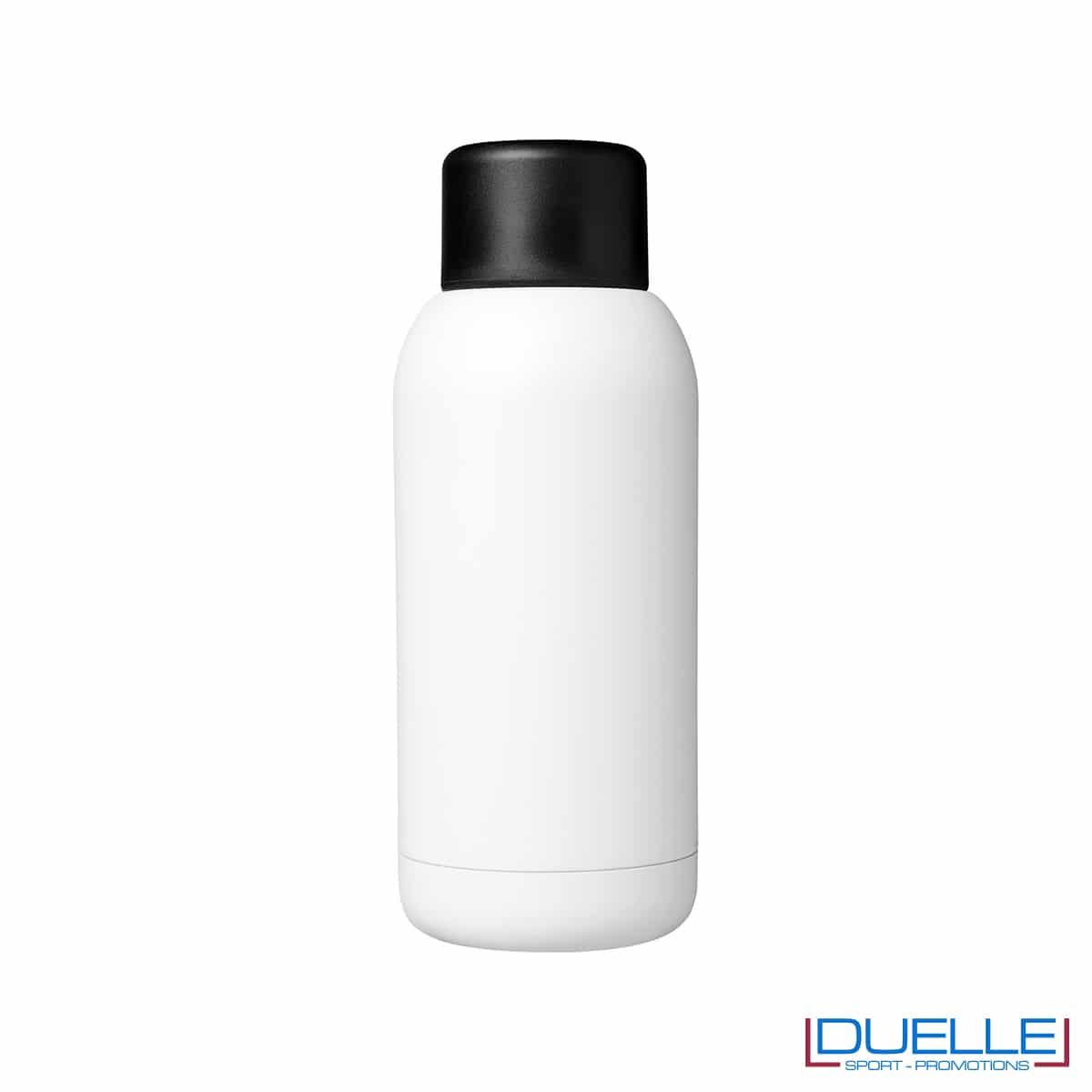 Borraccia termica sport 375ml colore bianco personalizzata