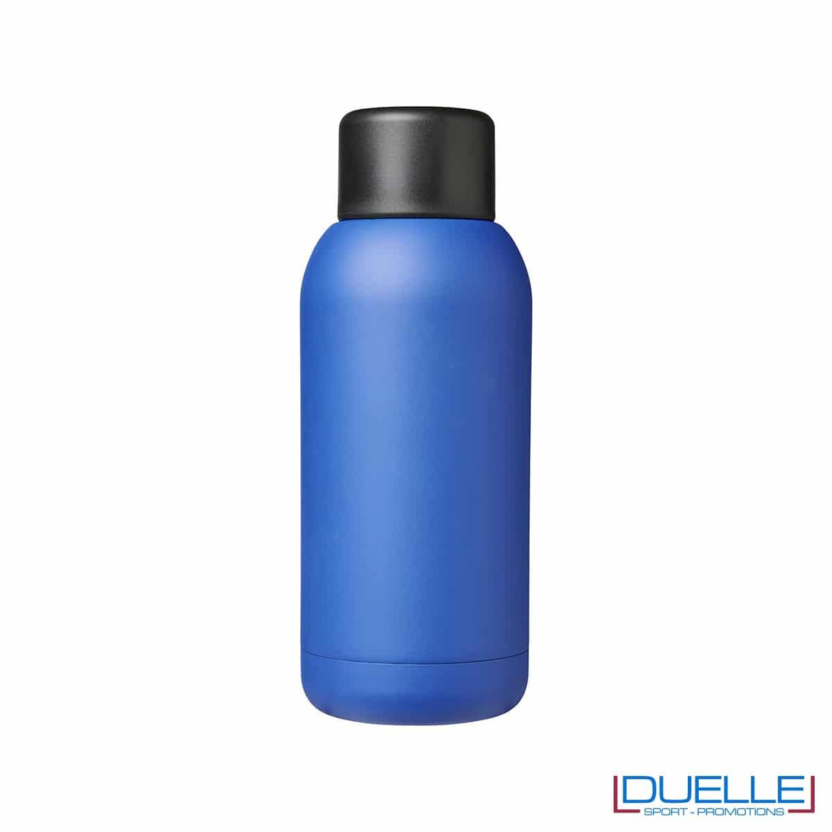 Borraccia termica sport 375ml colore blu personalizzata