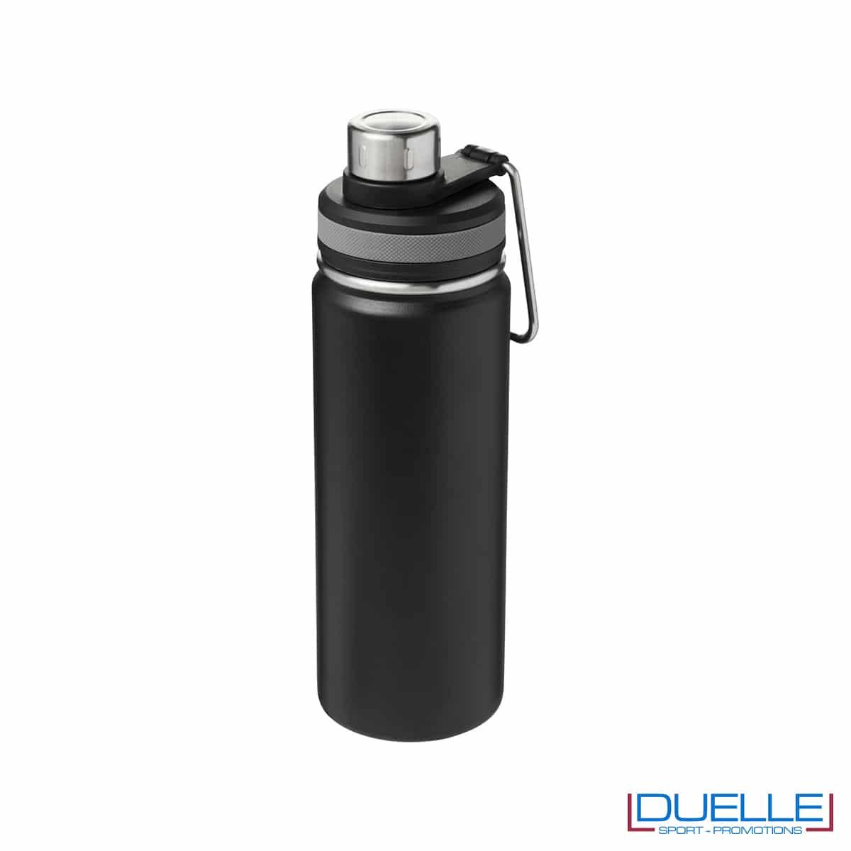 Borraccia termica sportiva 590 ml con manico per trasporto colore nero