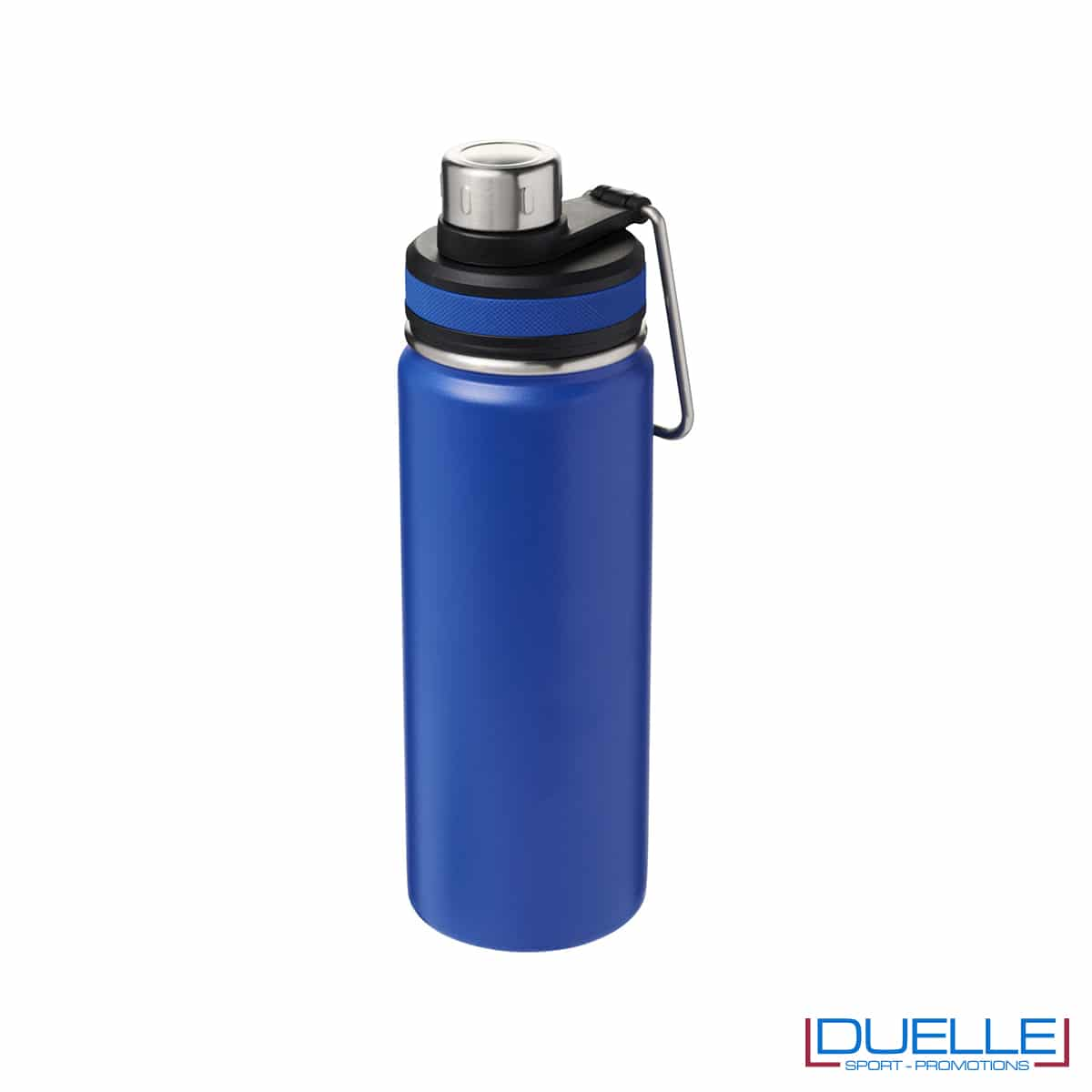 Borraccia termica sportiva 590 ml con manico per trasporto colore blu