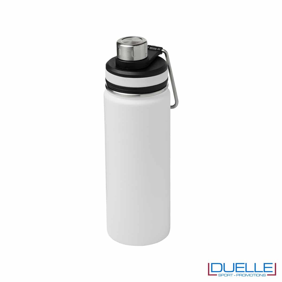 Borraccia termica sportiva 590 ml con manico per trasporto colore bianco