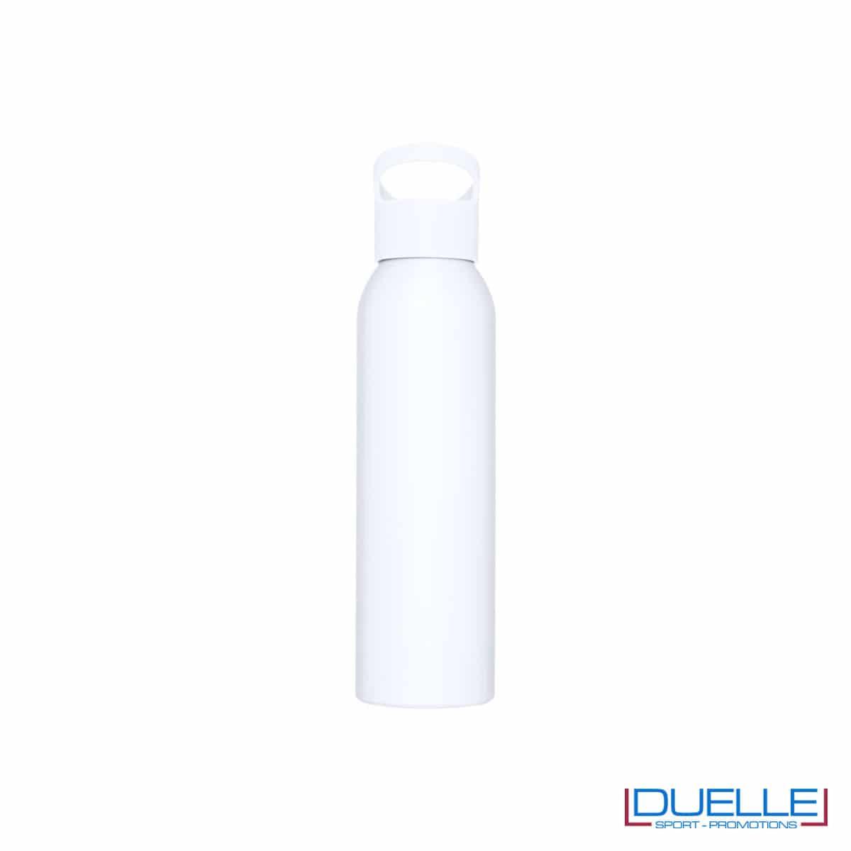Borraccia alluminio colore bianco con tappo in plastica